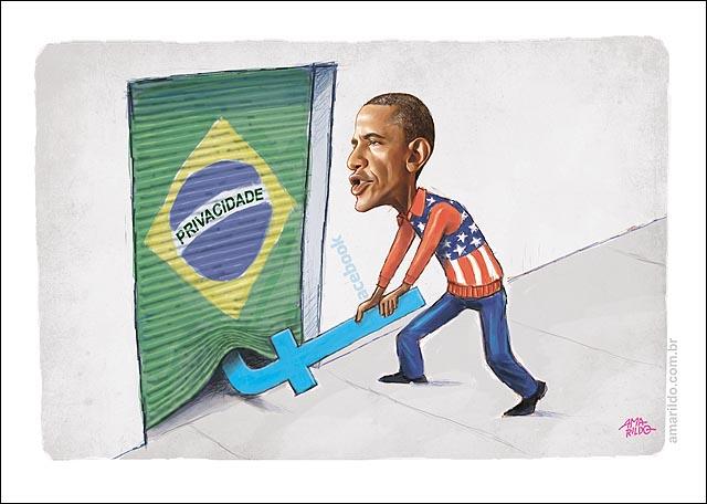 Obama Arromba Porta Facebook privacidade espionagem