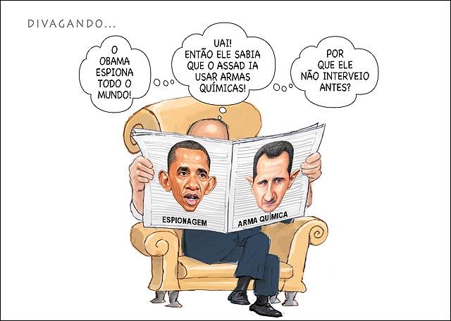Bashar al-Assad gas arma quimica  Obama espionagem Lendo Jornal B