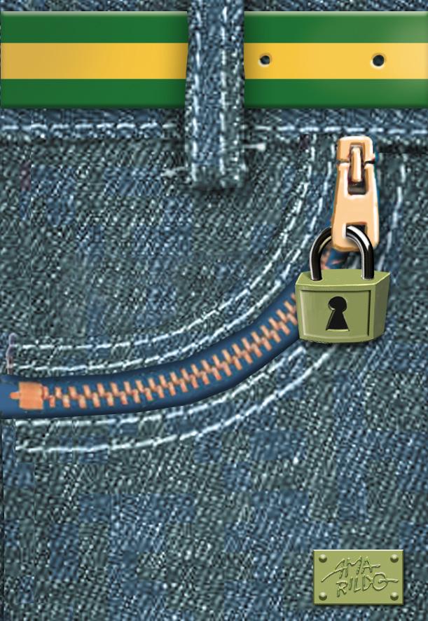 Bolso ziper feco eclair jeans cadeado copy
