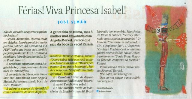 Charge Posto Ipiranga Jose Simao Folha de SP