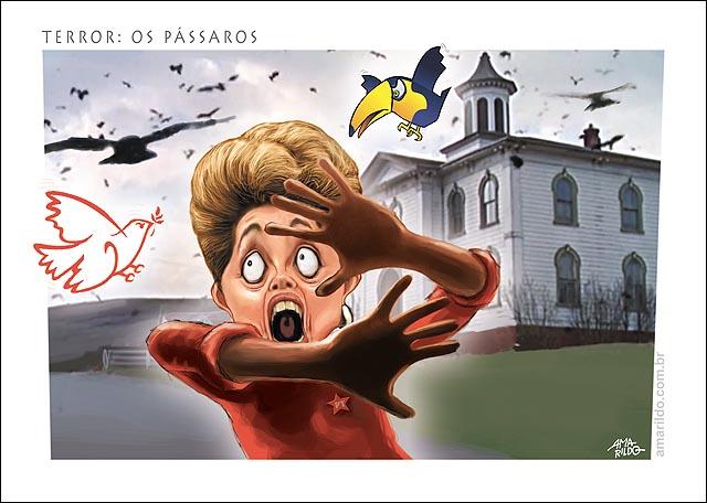 Dilma os Passaros Terror Hitchkoch PSB Pomba Psdb Tucano