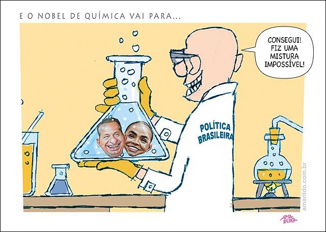 Nobel de quimica politica brasileira Misturou marina e eduardo campos