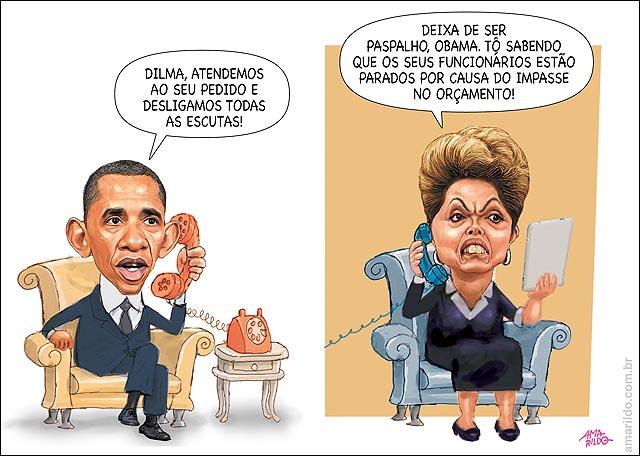 Obama Telefone Dilma IMpsaase orcamento Eua Espionagem