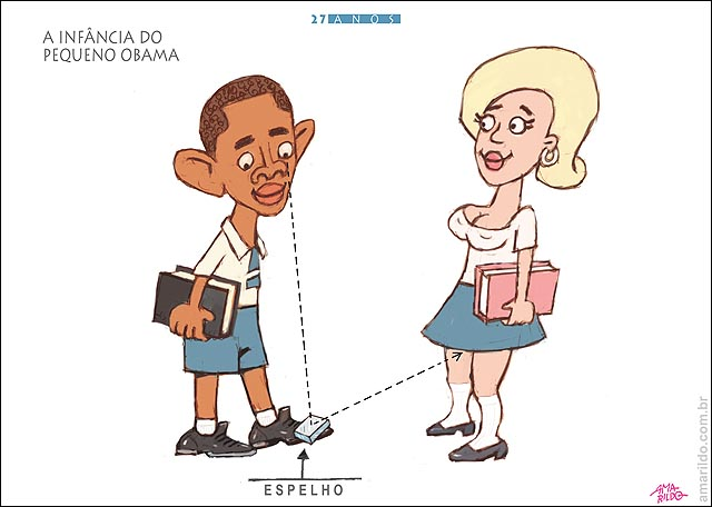 Obama Infancia espelho sapato olha calcinha esoionagem escuta