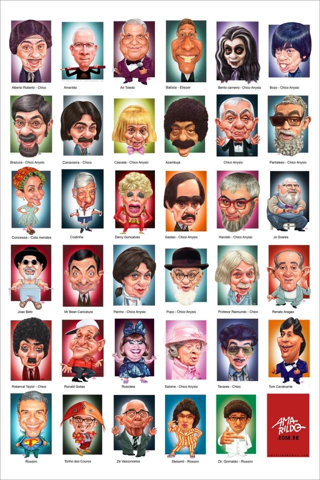 Caricaturas Miniaturas Nomes 01 29 cm