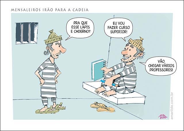 Mensalao Cadeia Preso caderno lapis universidade