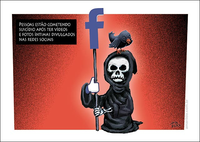 Morte no Facebook Jovem suicida apos ter foto nua divulgada