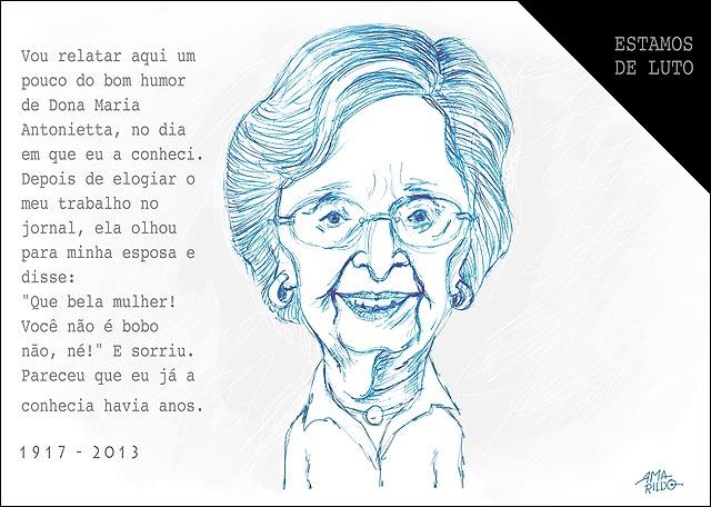 Morre Maria Antonietta Queiroz Lindenberg