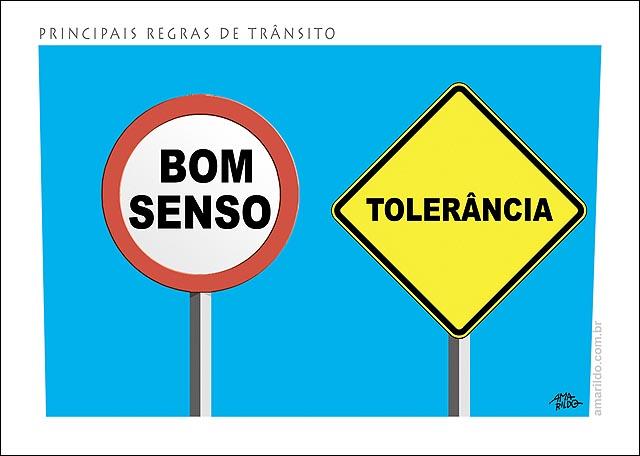 PLacas transito regras bom senso  Toleranci