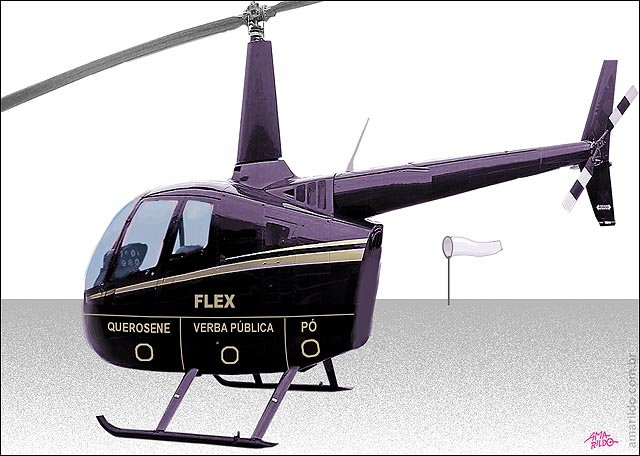 Helicoptero Gtrafico Flex Po gas e gasolina abastecimento