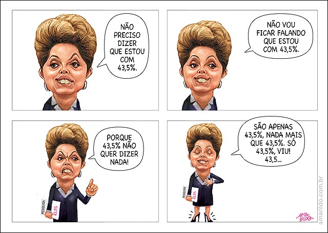 Dilma tem 43 pesquisa salto alto repete frase