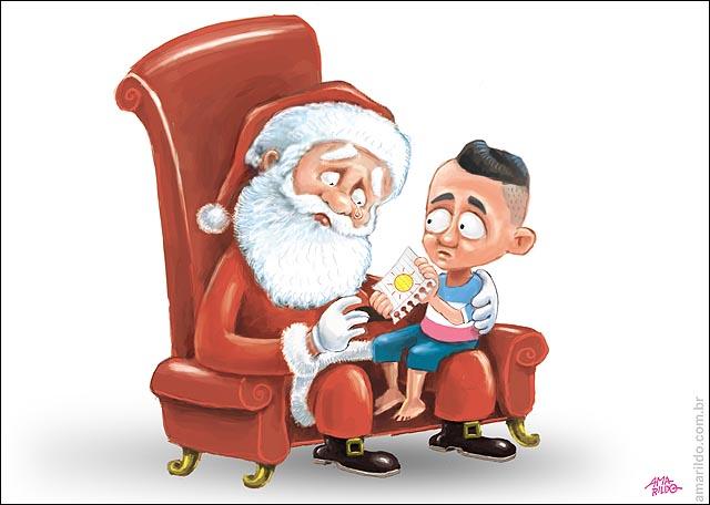 Chuva Papai Noel Carta pedido sol 2