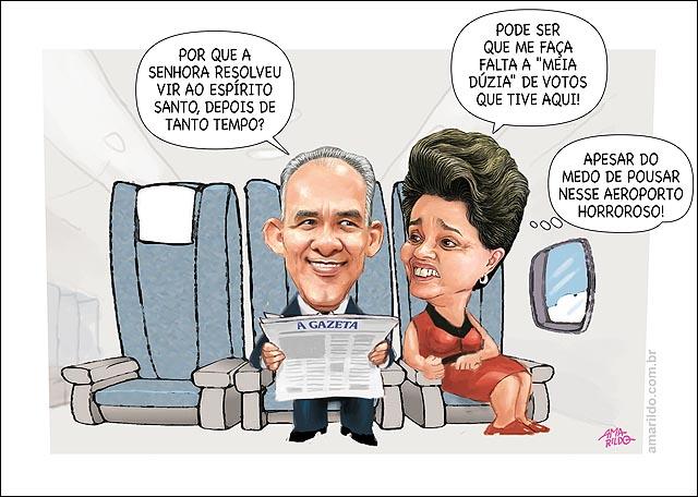 Dilma Vem Ao Es Aviao dentro mode de posar no aeroporto de vitoria 2