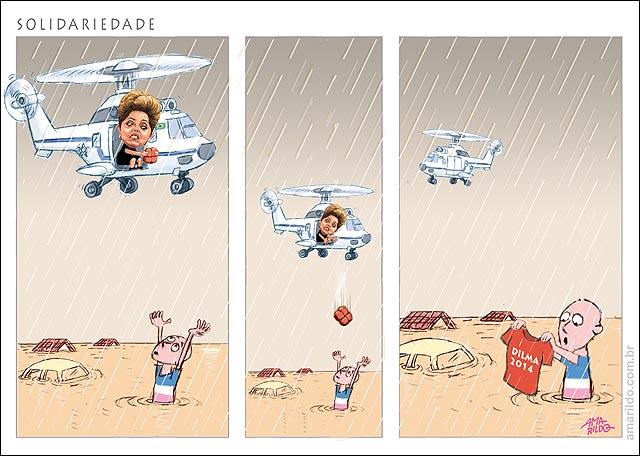 Dilma Visite ES Helicoptero chuva alagamento camisa vote dilma solidariedade