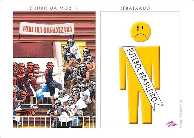 Violencia futebol brasileiro grupo da morte rebaixado