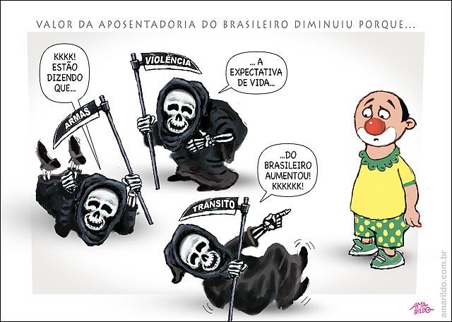 Aposentadoria brasileiro vivendo mais morte rindo brasileiro palhaco
