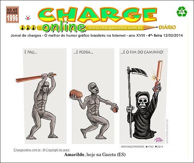 Nossa charge em A Gazeta é capa doChargeOnline