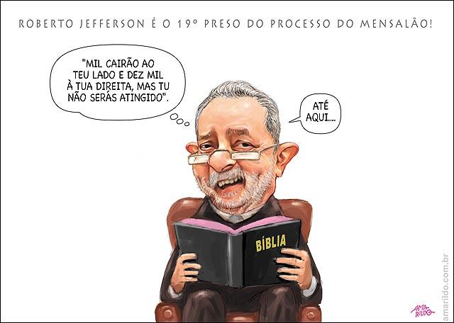 Roberto Jefferson Preso Mensalao lula mil caia direita Biblia