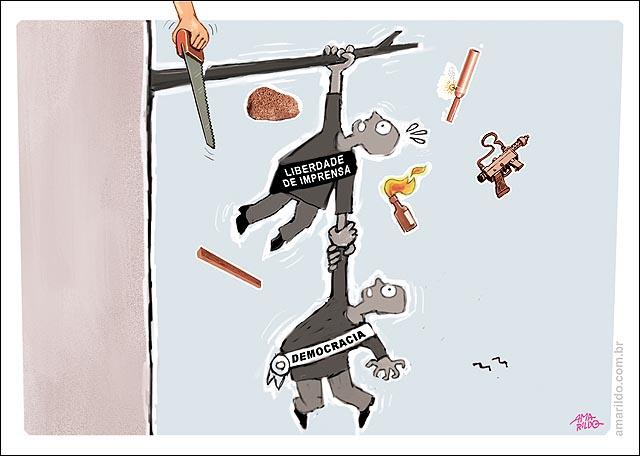 Violencia Manifestacoes Liberdade de imprensa democracia