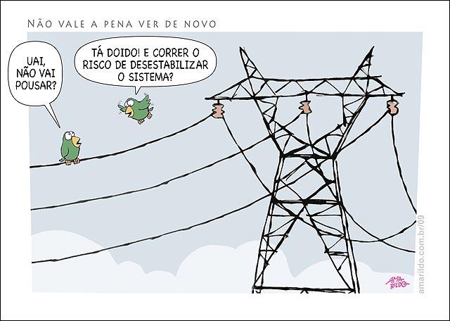 Apagao passaros posados no fio poste torre eletrica