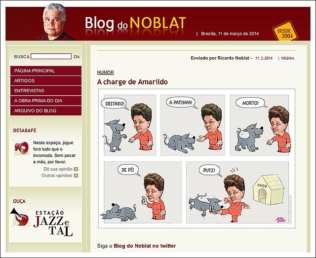 blog noblat dilma pmdb cao
