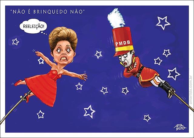 Dilma Carnaval estaca Reeleicao Pmdb braco cruzado
