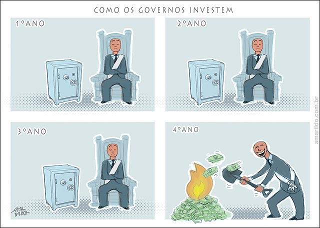 Como gastam os governos dinheiro queimando