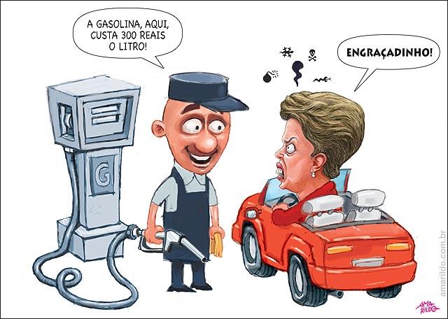 Dilma Petrobras Posto Gasolina Cara Carro Superfaturamento
