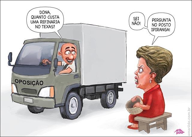 Dilma Petrobras venda de refinaria barata Posto ipiranga