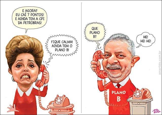 Dilma cai pesquisas CPI petrobras lula telefone ele plano B