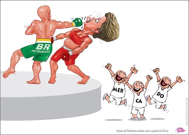 Dilma Petrobras acoes sobem Luta MMA Mercado vibra