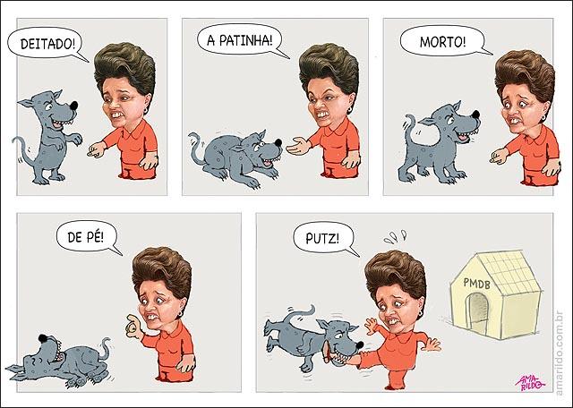 Dilma PMDB desobedece ordeM CACHORRO BULDOGUE
