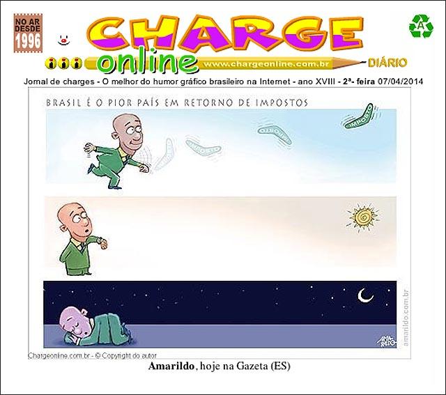 Nossa charge em A Gazeta é capa do ChargeOnline