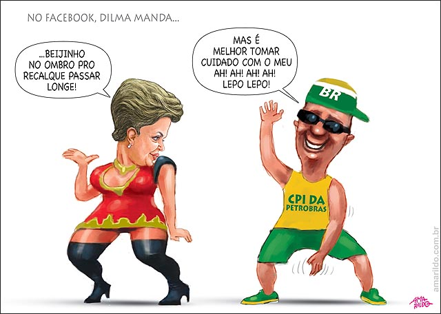 Dilma beijinho no ombro no twitter face Valesca popozuda