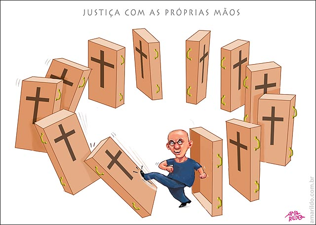 Justica Com as proprias maos domino arma