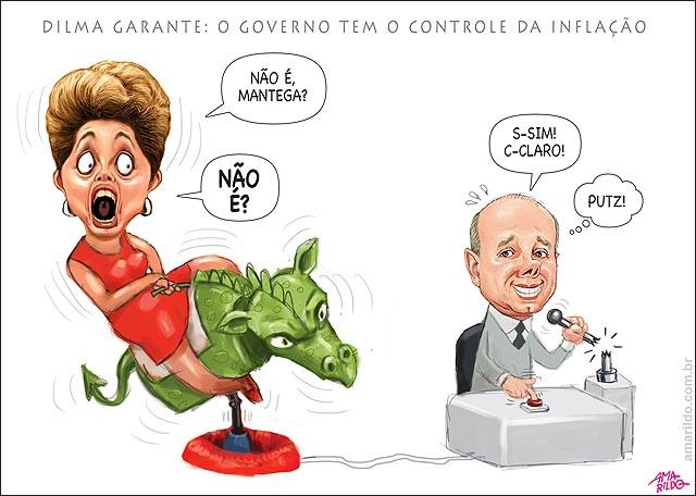 Dilma Inflacao touro mecanico mantega controle quebrado