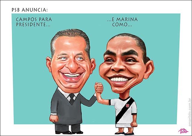 EDuardo Campos candidato e marina vice camisa do vasco