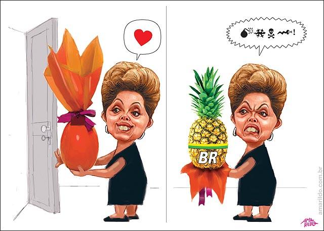Dilma Petrobras Ovo de pascoa abacaxi presente