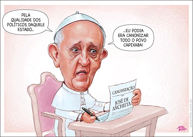 Canonizacao Padre Jose de Anchieta Papa Povo Capixaba Politicos Palacio