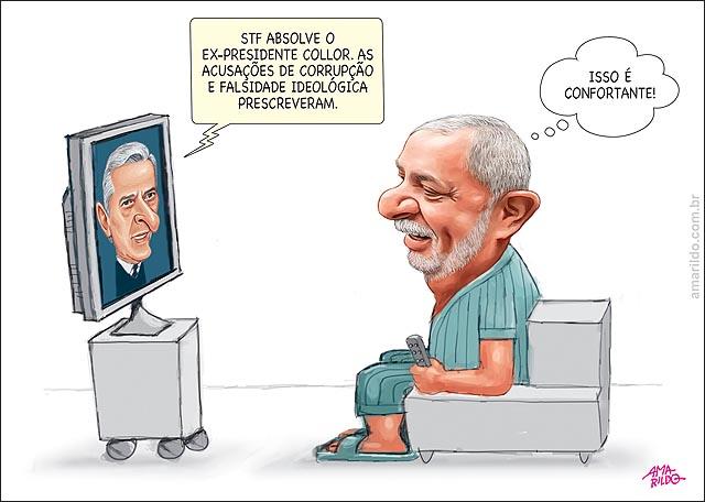 Collor julgamento absolvido prescricao Lula confortante Tv Sofa