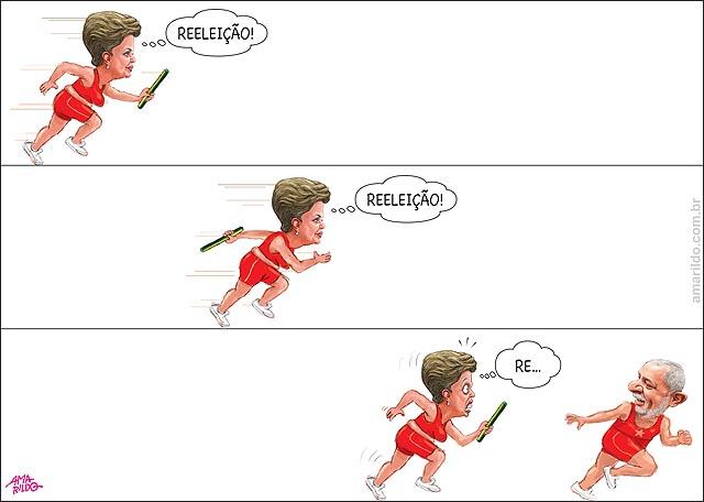 Dilma x Lula Corrida de Bastao eleicao B