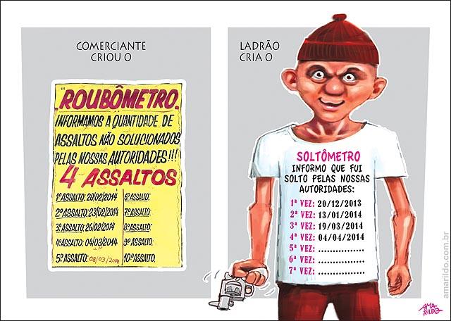 Roubometro x Soltometro Menor assaltante ladrao violencia arma