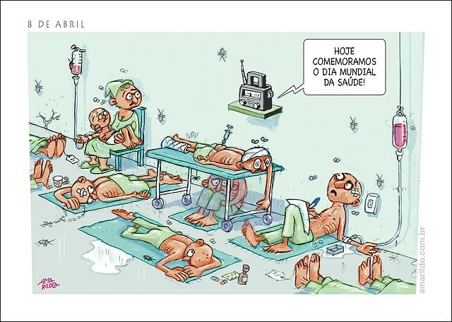 Hospital Leitos corredor Radio dia mundial da saude