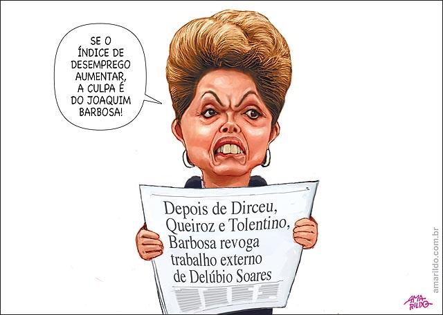 Dilma desemprego joaquim barbosa proibe dirceu e delubio de trabalhar