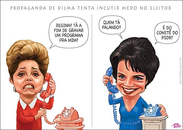 Dilma liga telefone regina duarte horario eleitoral PT b