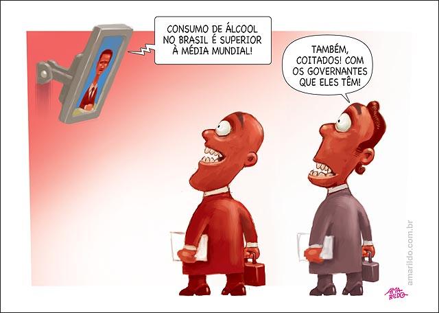 Consumo alcool brasil maior mundo governante responsaveis tv bebida