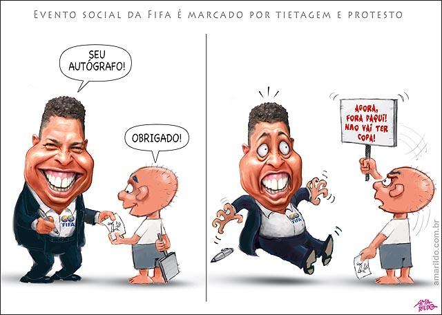 Copa Ronaldo Fifa autografo e protesto nao vai ter copa