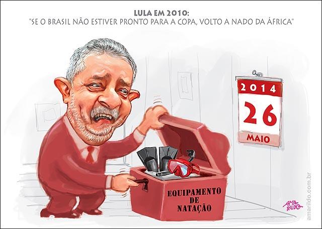 LULA 2010 Se o brasileo nao ficar pronto p copa volta a nado da africa