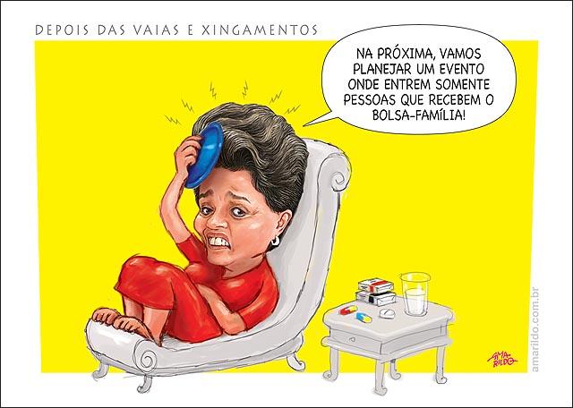 Dilma vaia copa bolsa de agua quente dor de cabeca