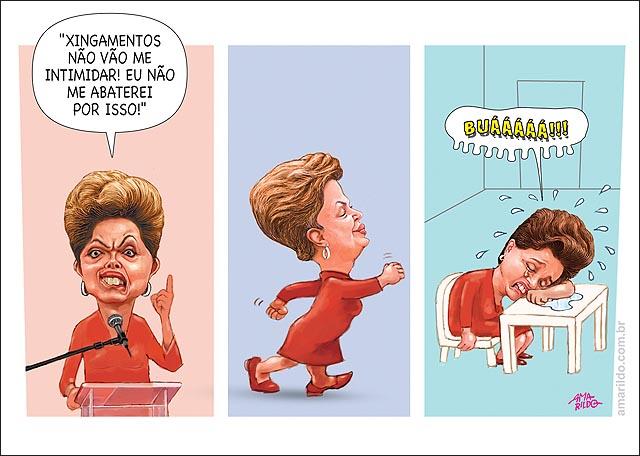 Dilma discurso vaia nao abala em casa chora xingamento